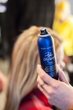 Magic in a can. Instant cool girl hair at Elizabeth and James. Hair by Jordan M for Bumble and bumble. #NYFW