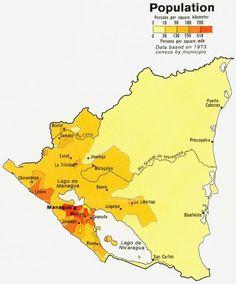 Densidad de población en Nicaragua
