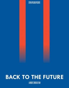 Back to the Future minimalist movie poster