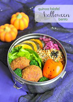 quinoa falafel halloween bento | bento zen