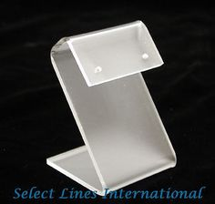 """NEW Frosted Acrylic """"S"""" Earring Stand Jewelry Display ! $3.75"""