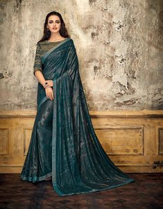 Product ID: Work Type: Cording Embroidery & Stones Work Saree Color: Teal Blue Blouse Color: Teal Blue Saree Fabric: Embossed Lycra Blouse Fabric: Art Slk Saree Size: Metres Blouse Piece Size: Party Wear Sarees Online, Raw Silk Saree, Indian Clothes Online, Green Saree, Designer Sarees Online, Embroidered Clothes, Fancy Sarees, Printed Sarees, Indian Dresses