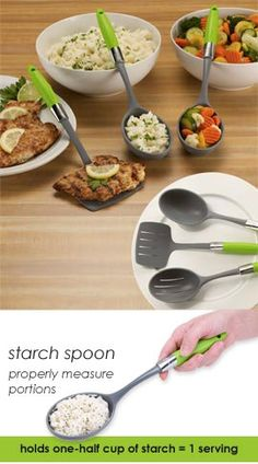 Portion control serving utensils