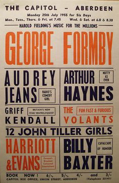 George Formby / The Capitol - Aberdeen