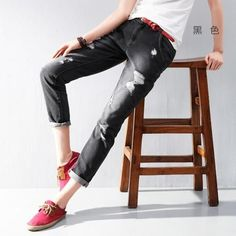 Toyouth 2017 Summer New Arrival Lady Jeans Hole BFF Style Pencil Pants Women Fashion Black Harem Full Length Jeans
