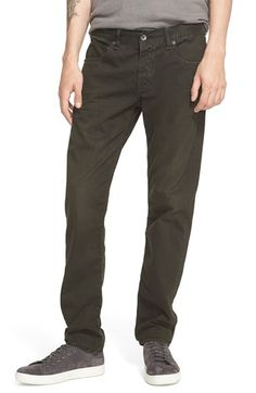 rag & bone 'Fit 2' Slim Fit Five-Pocket Pants in Distressed Stone available at #Nordstrom