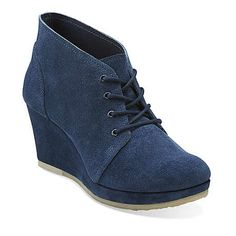 Vogue Aurora in Navy Suede - Womens Shoes from Clarks