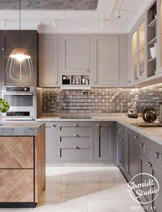 New shabby chic kitchen diner ideas Shabby Chic Kitchen Decor, Home Decor Kitchen, Kitchen Furniture, New Kitchen, Home Kitchens, Shaker Kitchen, Grey Kitchens, Kitchen Modern, Office Furniture