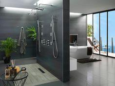 #Baño y dormitorio. Estancias fusionadas en un mismo ambiente  #interiorismo #diseño