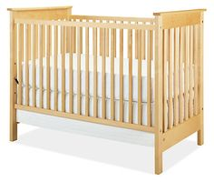 """Room and Board Nest Crib $699, still pretty high at 43"""", comes in white and wood colors. Made in USA"""