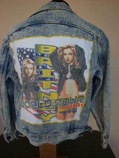 """BAREFOOT VINTAGE ORIGINAL BRITNEY SPEARS WORLD TOUR 2001 LEE JEAN JACKET  $120.00  www.barefootvintage.com """"SOLD"""""""