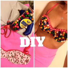 DIY Halloween Costume: Gumball Machine Costume! Sexy halloween costume, pink…