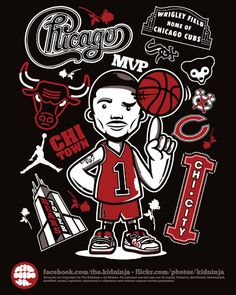 Derrick Rose Art! #NBA #ChicagoBulls
