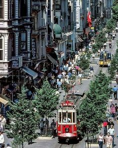 Istanbul's Istiklal Caddesi in (Photo by Murat Germen) Urban Concept, Visit Istanbul, Turkey Holidays, Turkey Photos, Kiosk Design, Colonial Architecture, Beautiful Streets, Travel Light, Istanbul Turkey