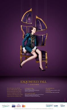 awesome Raffles City Fall Winter Campaign 2013 by David Lin, via Behance. Design Poster, Ad Design, Flyer Design, Print Design, Hotel Ads, Diy Photo Backdrop, Brand Promotion, Beautiful Posters, Identity