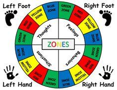 Zones of Regulation - Twister Game