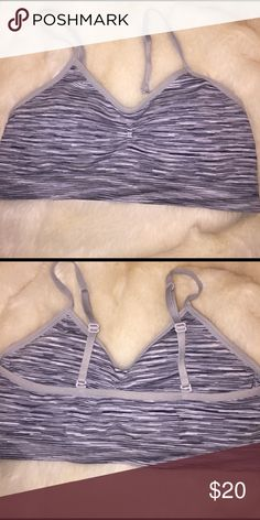 Grey Sports Bra Grey Sports Bra in great condition. Size small 4/6. This would match with almost anything while you workout! Super comfy & comes with removable padding. No pilling. Not LuluLemon, just listed for the views. I do have LuluLemon items in my closet for sale! 😘 Bundle for a discount💌 lululemon athletica Intimates & Sleepwear Bras