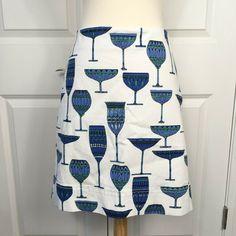 Talbots Petites Cocktails Wine Glass Novelty Print Skirt Size 4P Stretch #Talbots #StraightPencil #PartyCocktail Wine Glass Designs, Print Skirt, Novelty Print, White Fabrics, Talbots, Ebay Clothing, Skirts, Cocktails, Color