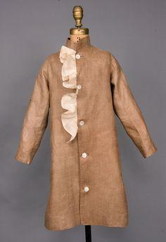 Boy's Brown Linen Coat, America, 1880-1910