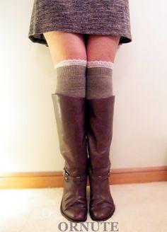 DDLBiz Women Long Over Knee Thigh-High Socks Stocking Boot Socks ...