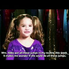 Hahahah! Mackenzie Ziegler #dancemoms