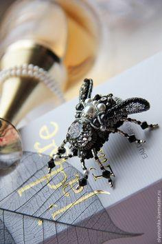 """Купить Брошь """"Argento Beetle.Primavera in Italia"""" бронь - винтажные украшения, старинный стиль"""
