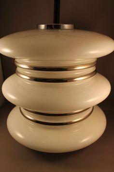 70er Jahre große Glas Lampe Deckenlampe 60s hanging lamp Space Age 70er Doria