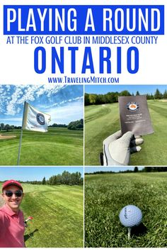 While I was in Middlesex County I was able to play a round of golf at Granton, Ontario's Fox Golf Club. It's also a course that's perfect for golfers of all skill levels, since it's challenging, but not alienating. I think of the Fox Golf Club as being the type of course where grandparents, parents, and children could all play together happily (and stay on budget!). #granton #golf #ontario Work Travel, Time Travel, Who Plays It, Ontario Travel, Public Golf Courses, Names With Meaning, Golfers, Discount Travel, Travel Advice