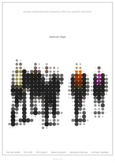 Reservoir Dogs - Alternative, Minimalist Poster: by 3ftDeep