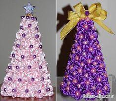 DIY: Kanzashi Christmas Tree — Ideas-diy.com