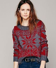 free people snowflake sweater : Ugly Christmas Sweaters That Aren't Ugly At All : Lucky Magazine