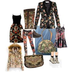 tapestry! by hlenelson on Polyvore featuring polyvore fashion style Yves Saint Laurent Greylin Spring Step Park Lane
