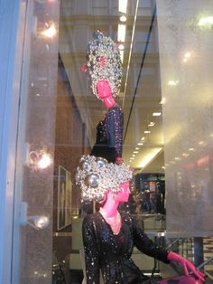 Bloomingdales - Headpieces made from Xmas ornaments    Mannequin Madness has the right mannequin for you to show your holiday spirit!