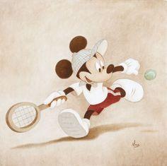 Disney Fine Art Cross Court by Mike Kupka Tennis Shop, Play Tennis, Atp Tennis, Sport Tennis, Soccer, Tennis Crafts, Tennis Funny, Tennis Humor, Tennis Pictures