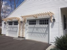 Trellis over Garage Doors adds great Curb Appeal