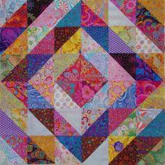 Tower Bridge pattern with Kaffe Fassett fabric