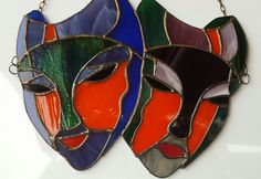 Stained glass mask Stained Glass, Projects, Stained Glass Windows, Stained Glass Panels, Colored Glass, Fused Glass, Leaded Glass