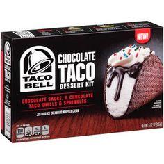 Taco Bell Chocolate Taco Dessert Kit, 5.82 oz