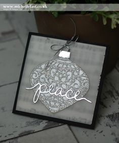 Embellished Ornaments Christmas Card for #GDP011 - with Michelle Last