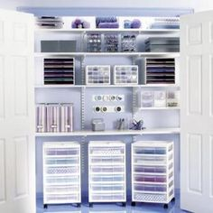 You don't have to have a craft room to be able to craft--store it all in a spare closet! by shawn