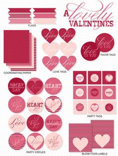 A Modern Lovely Valentine Party: Printables by Love The Day via Etsy.
