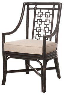 Palm Springs Armchair, Natural Linen