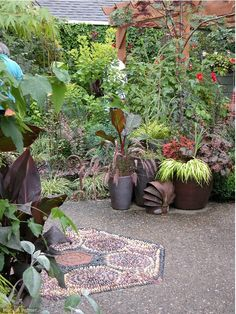 Pebble Mosaic in Garden