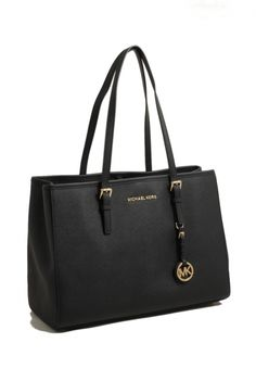 michael kors jet set travel black large tote bag shop online