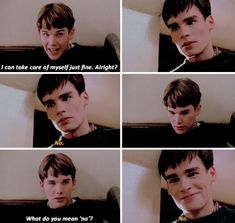 Ethan Hawke as Todd Anderson and Robert Sean Leonard as Neil Perry in Dead Poets Society. Movies And Series, Tv Series, Dead Poets Society Quotes, Robert Sean Leonard, Oh Captain My Captain, Out Of Touch, Movie Lines, Star Wars, Indie Movies