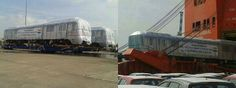 First shipment of #Hyderabad Metro Rail reached #Chennai....!