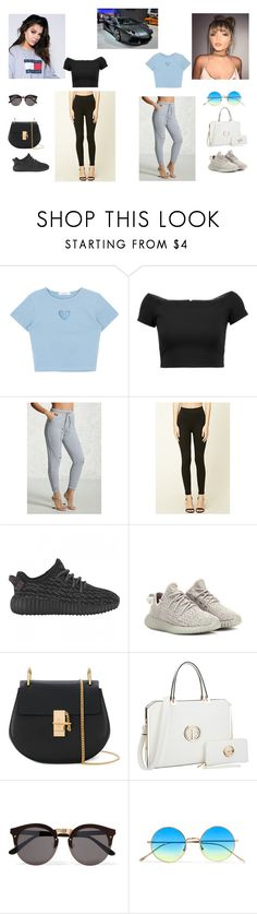"""out fanfic"" by sophiehaggarty on Polyvore featuring Brooks, Alice + Olivia, Love 21, Forever 21, adidas Originals, Chloé, Dasein and Illesteva"