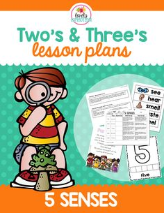 5 Senses Lesson Plan for 2 and 3 year olds!
