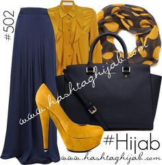 Hashtag Hijab Outfit...maybe chill a bit on the heel but love the colors.