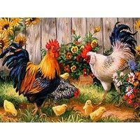 Vásárolj Diy Diamond Painting Decorative Painting Chickens In The Garden Mosaic Diamond Embroidery Full Drill Rooster Hen-t a(z) Wish - A szórakoztató vásárlás alkalmazásban